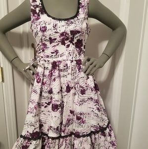 Hot topic rose musical note gothic dress